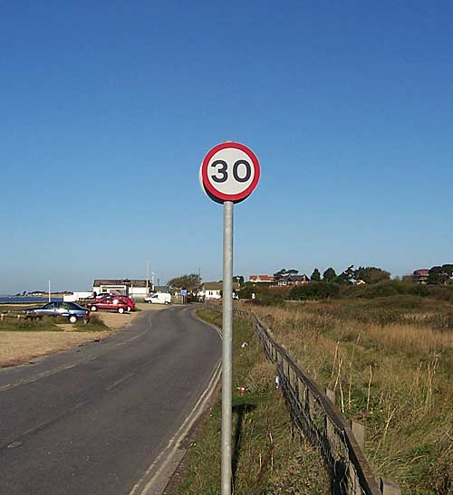 Speed sign in the Gosport area